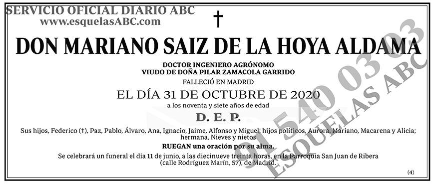 Mariano Saiz de la Hoya Aldama