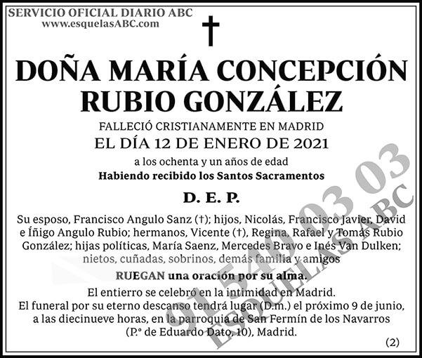 María Concepción Rubio González