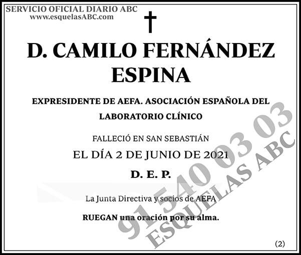 Camilio Fernández Espina