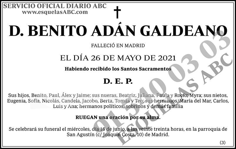 Benito Adán Galdeano