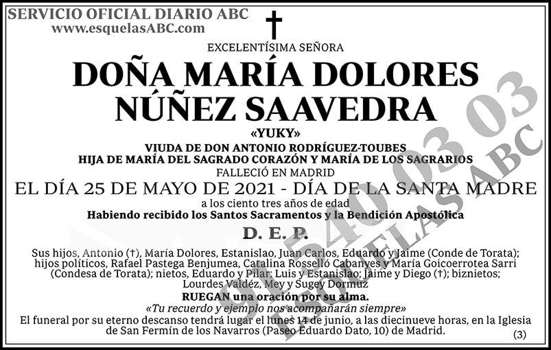 María Dolores Núñez Saavedra