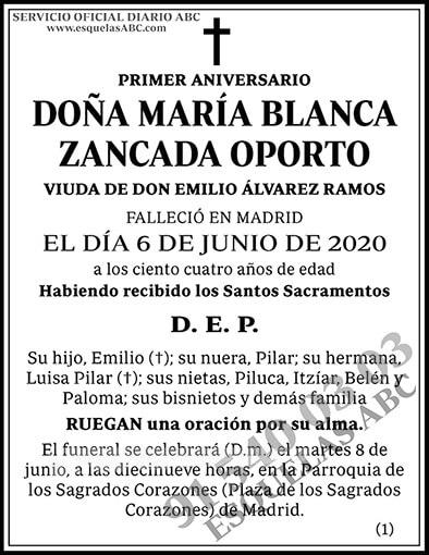 María Blanca Zancada Oporto