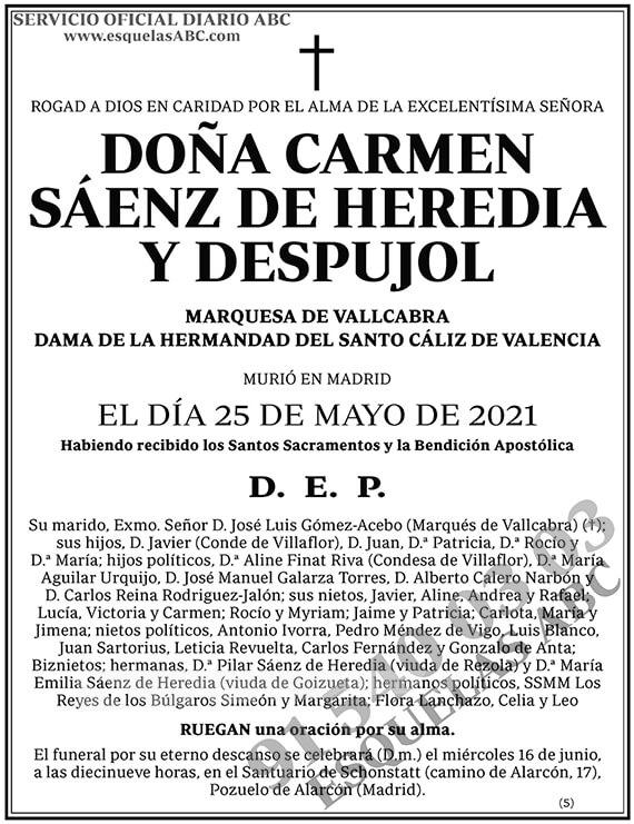 Carmen Sáenz de Heredia y Despujol