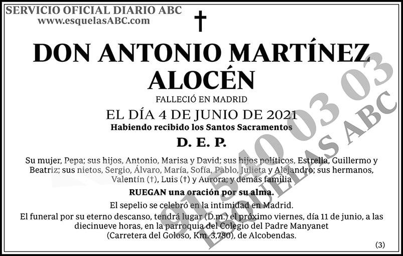 Antonio Martínez Alocén