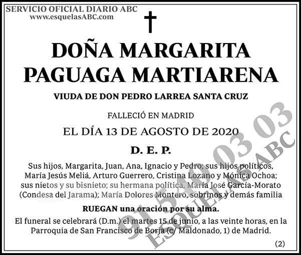 Margarita Paguaga Martiarena