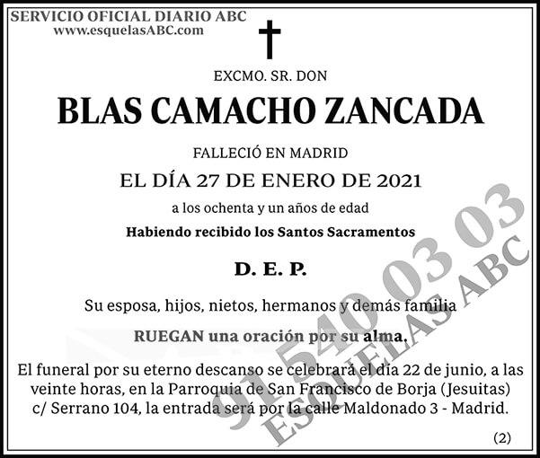 Blas Camacho Zancada