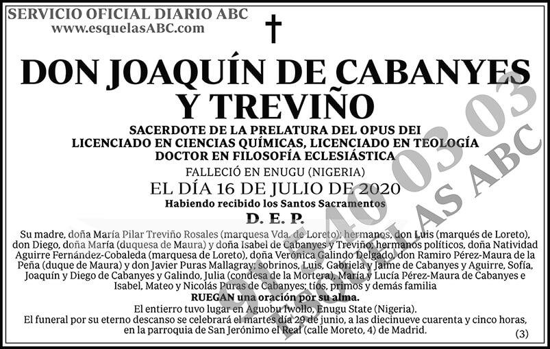 Joaquín de Cabanyes y Treviño