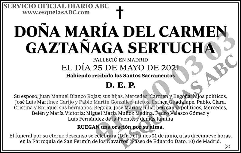 María del Carmen Gaztañaga Sertucha