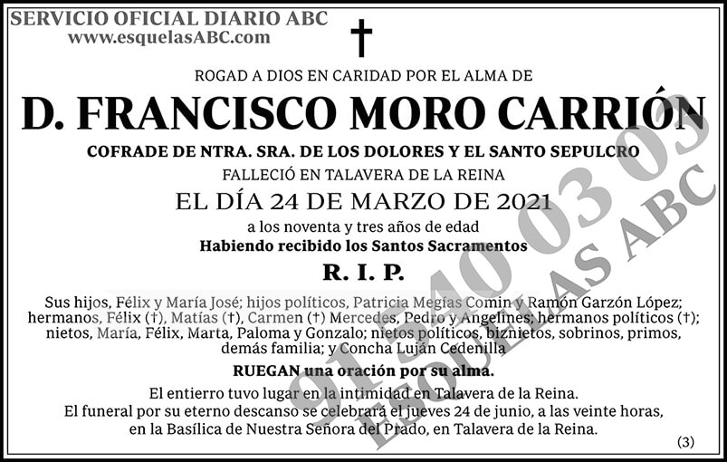 Francisco Moro Carrión