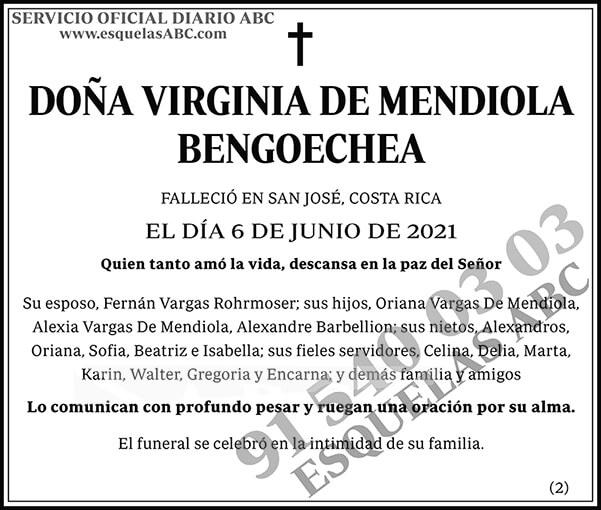 Virginia de Mendiola Bengoechea