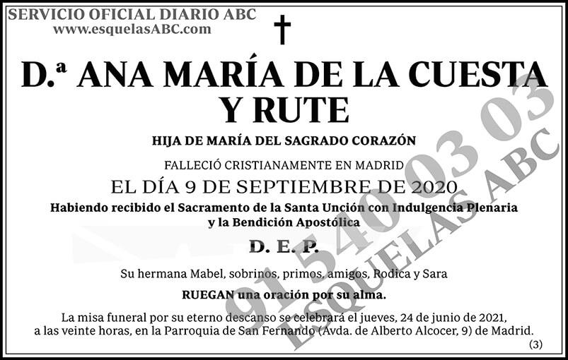 Ana María de la Cuesta y Rute