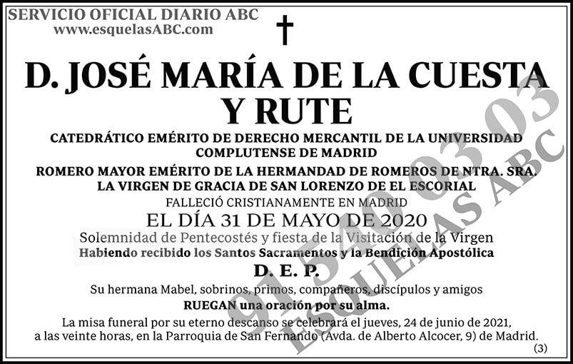 José María de la Cuesta y Rute