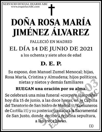 Rosa María Jiménez Álvarez