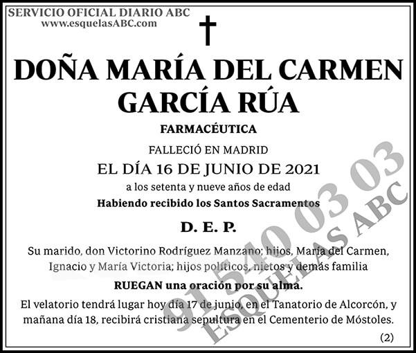 María del Carmen García Rúa