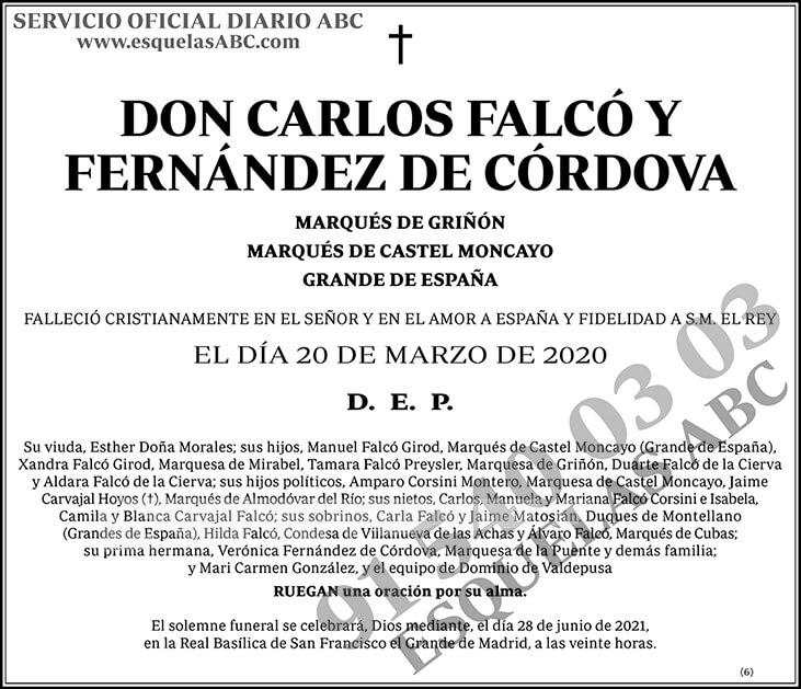 Carlos Falcó y Fernández de Córdova
