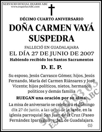 Carmen Vayá Suspedra