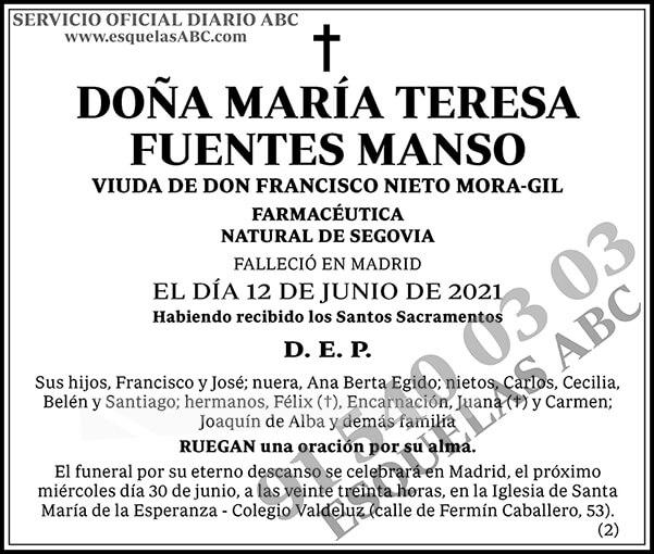María Teresa Fuentes Manso