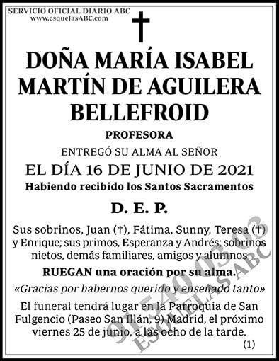 María Isabel Martín de Aguilera Bellefroid