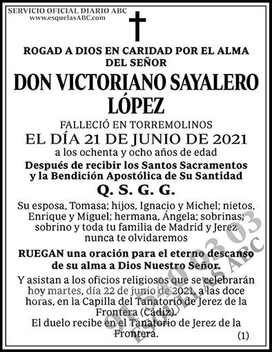 Victoriano Sayalero López