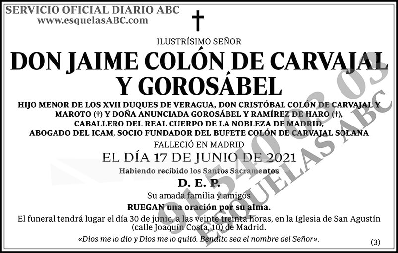 Jaime Colón de Carvajal y Gorosábel