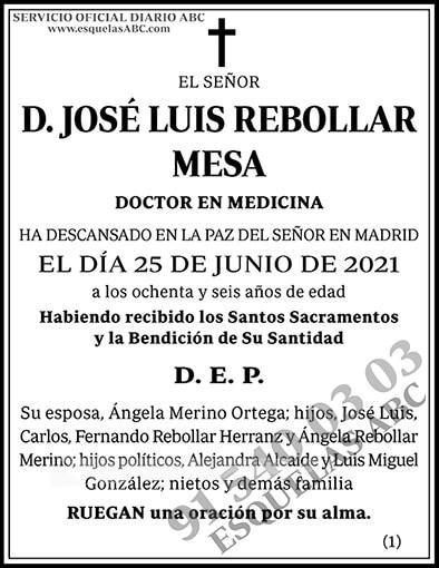 José Luis Rebollar Mesa