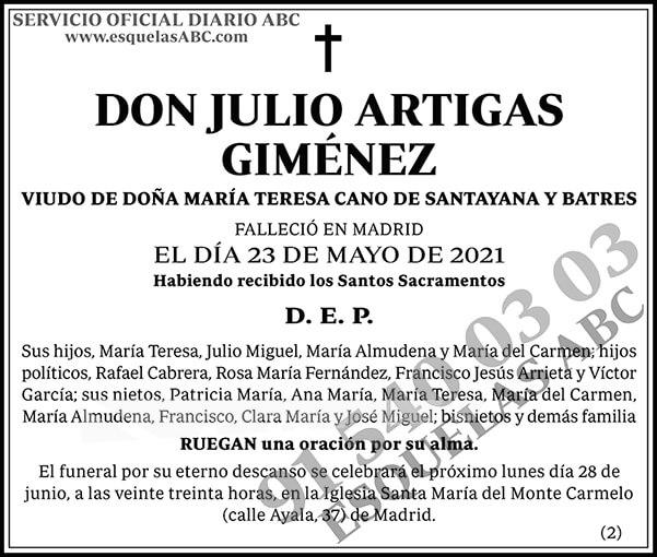 Julio Artigas Giménez