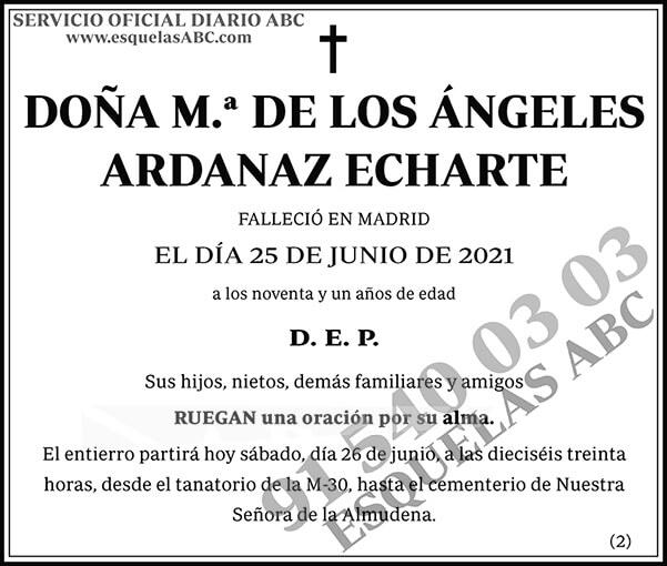 M.ª de los Ángeles Ardanaz Echarte