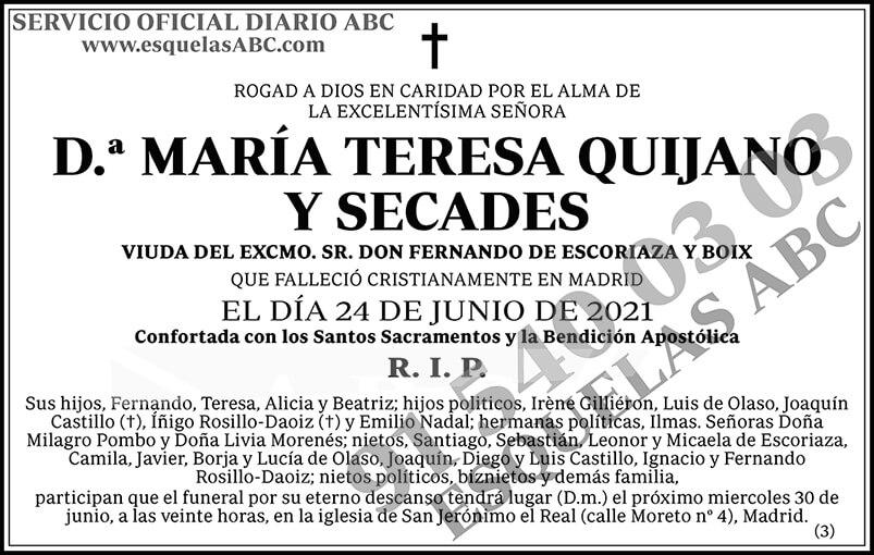 María Teresa Quijano y Secades
