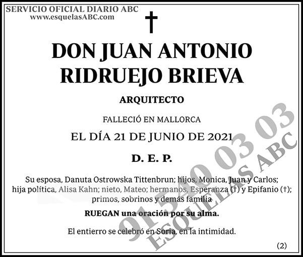 Juan Antonio Ridruejo Brieva