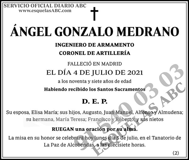 Ángel Gonzalo Medrano