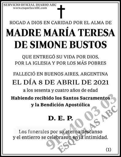 María Teresa de Simone Bustos