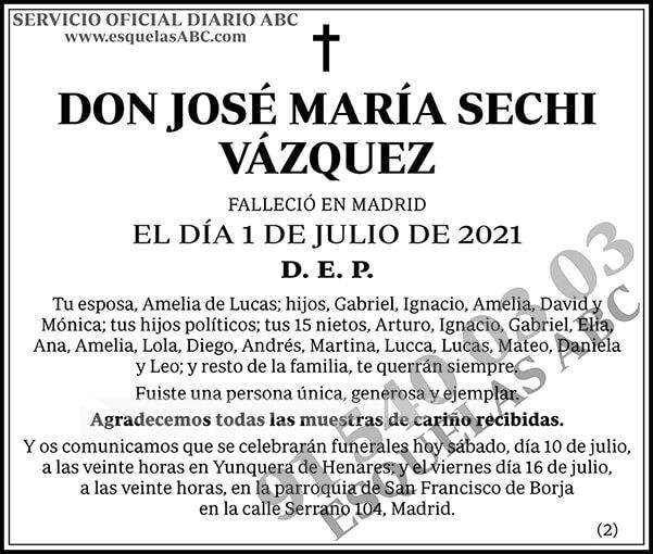 José María Sechi Vázquez