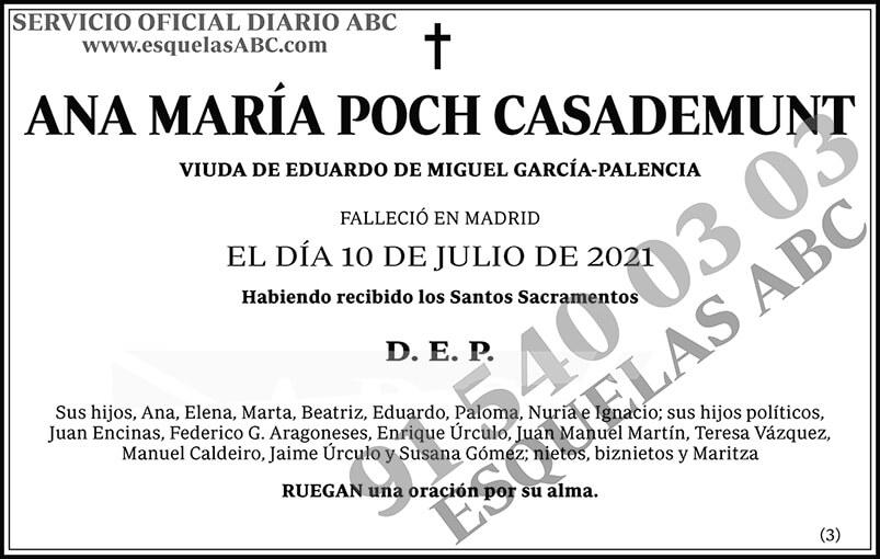 Ana María Poch Casademunt