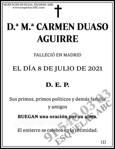 María Carmen Duaso Aguirre