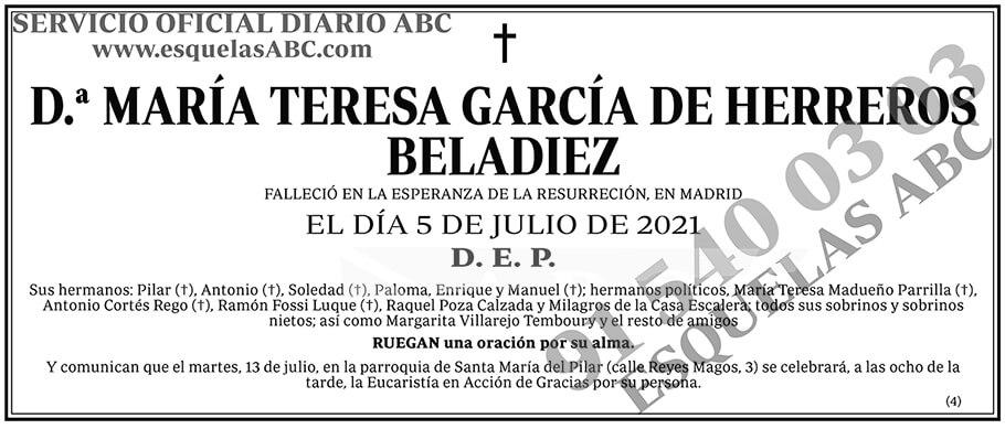 María Teresa García de Herreros Beladiez