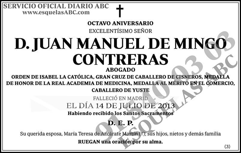 Juan Manuel de Mingo Contreras