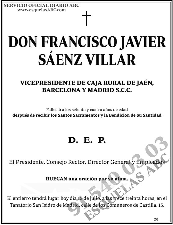 Francisco Javier Sáenz Villar