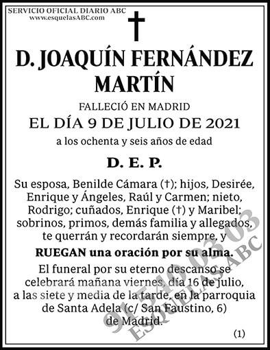 Joaquín Fernández Martín