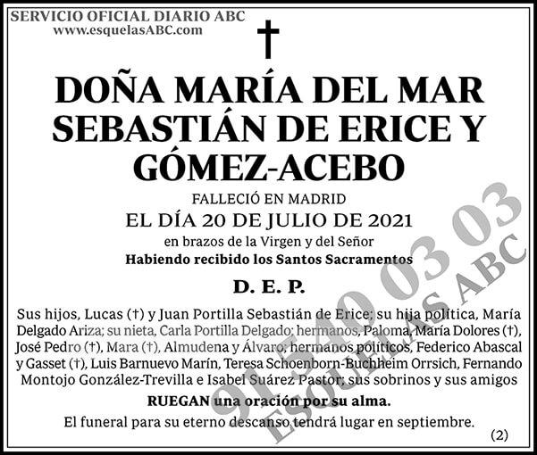 María del Mar Sebastián de Erice y Gómez-Acebo