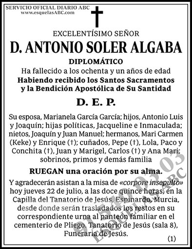 Antonio Soler Algaba