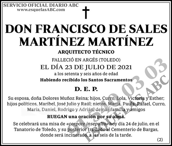 Francisco de Sales Martínez Martínez
