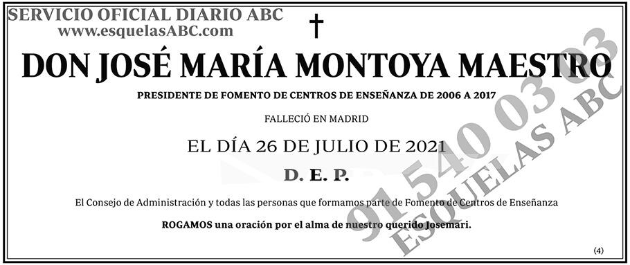 José María Montoya Maestro