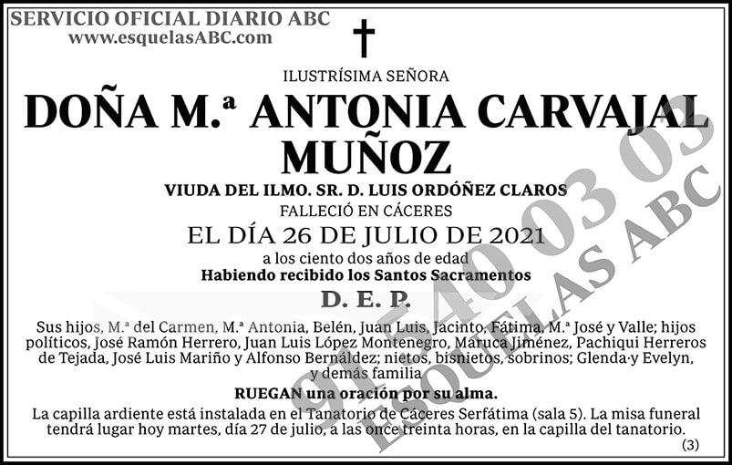Mª Antonia Carvajal Muñoz