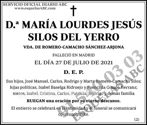 María Lourdes Jesús Silos del Yerro