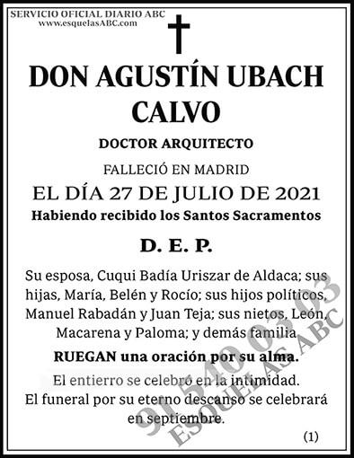 Agustín Ubach Calvo