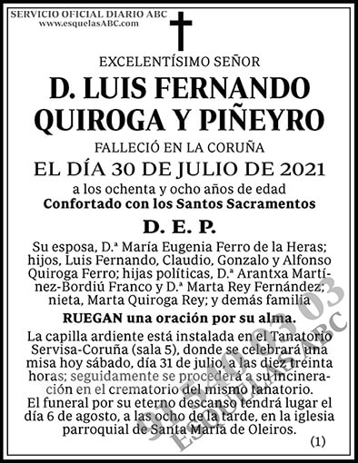Luis Fernando Quiroga y Piñeyro