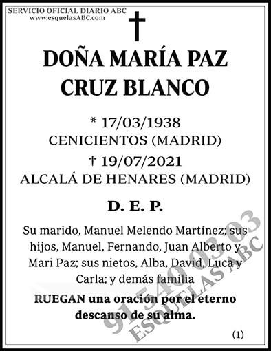María Paz Cruz Blanco