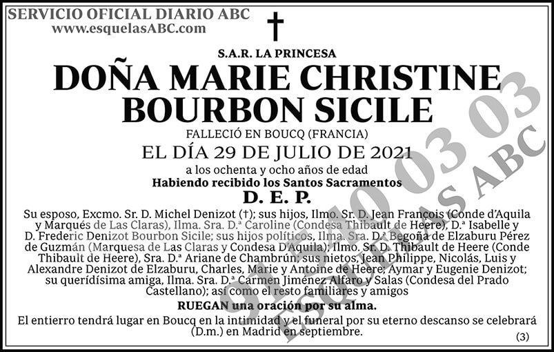 Marie Christine Bourbon Sicile