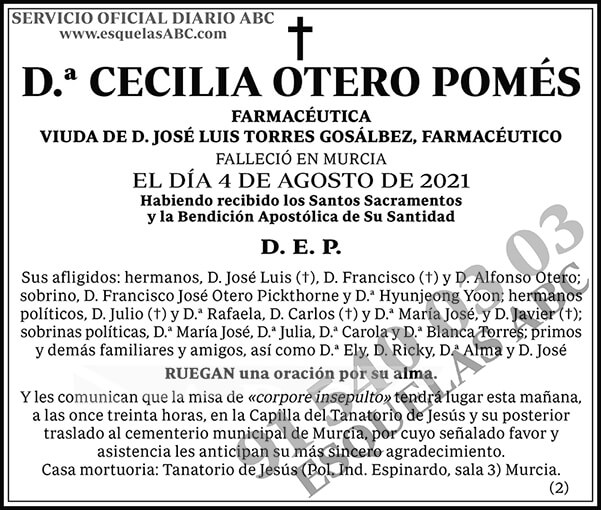 Cecilia Otero Pomés