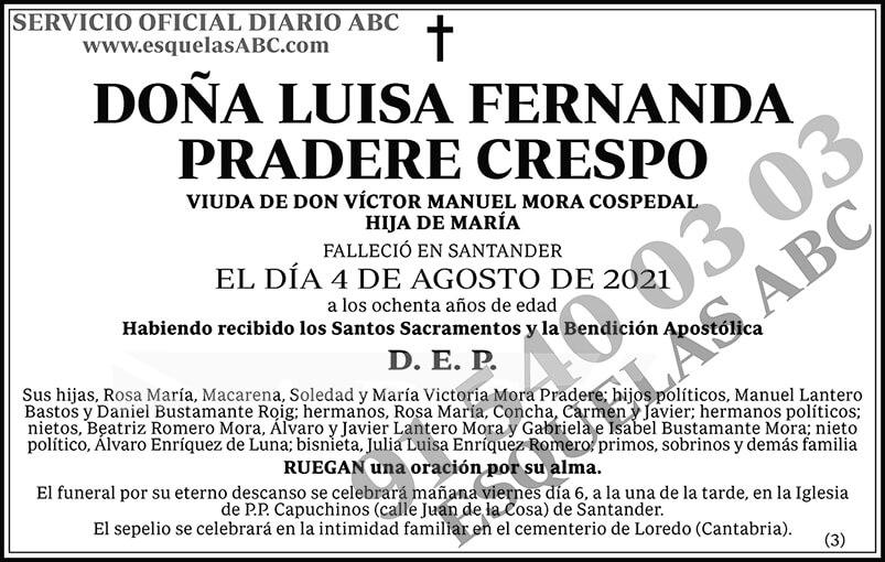 Luisa Fernanda Pradere Crespo